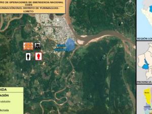 Loreto: Instalan albergue temporal para afectados por inundación