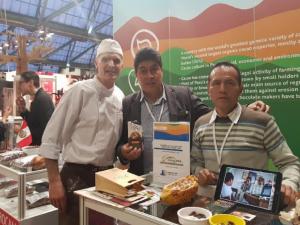 Productores huanuqueños se lucieron en el salón del cacao y chocolate en Bélgica