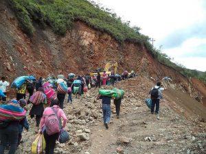 Algunas vías permanecen restringidas en San Martín