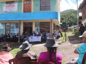 Ayacucho: Juramenta primer alcalde y regidores del nuevo Centro Poblado de Huaccaña