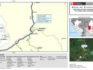 Amazonas: Tránsito restringido en vía afectada por lluvias en Aramango