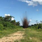 Mininter supervisó destrucción de pistas de aterrizaje del narcotráfico