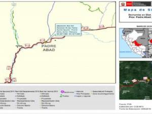Ucayali: Provías Nacional limpia tramo Puente Aguaytía – Puente Chino