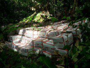 Vraem: Decomisan más de cinco toneladas de insumos para la elaboración de cocaína