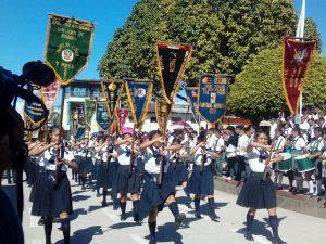 Desarrollan desfile cívico escolar en Tocache