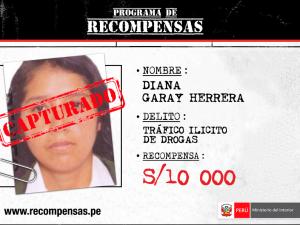 Policía captura a requisitoriada por tráfico de drogas en Tocache