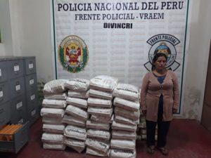 Vraem: Decomisan 1.5 toneladas de insumos químicos para producción de droga