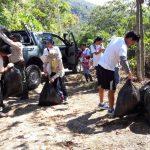 Realizan jornada de limpieza en parque Tingo María