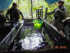 Cusco: Destruyen dos pozas de PBC y decomisan 100 kilos de droga liquida