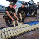 Decomisan 56.2 kilos de droga en el Vraem