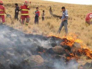 Pobladores de Puno se preparan para prevenir los incendios forestales