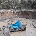 Policía destruye equipos utilizados por minería ilegal en Madre de Dios