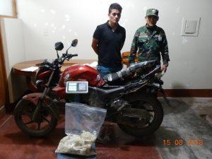 Satipo: Intervienen a motociclista transportando droga procedente del Vraem