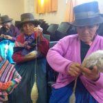Adultos mayores participan en taller de saberes productivos en Vilcas Huamán