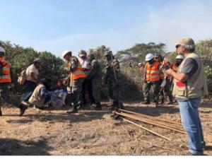 Reiniciaron labores de extinción de incendio forestal en Lambayeque