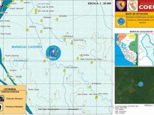 Entregaron ayuda humanitaria a afectados por vientos fuertes en San Martín