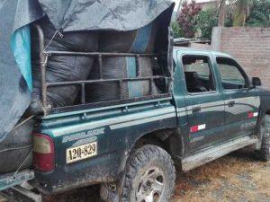 Vraem: Decomisan más de 450 kilos de hoja de coca y detienen a dos personas