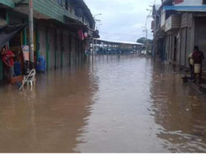 Evalúan daños de inundación en Madre de Dios