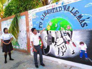 Junín: Escolares rechazaron consumo de drogas a través de murales