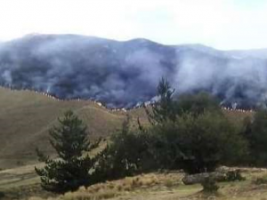 Huancavelica: Forman brigadas para controlar incendio forestal en Huaribamba