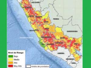 Más de 500 distritos de la sierra con riesgo muy alto de huaicos por lluvia