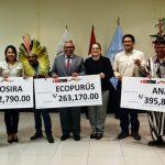 Otorgan S/1.5 millones para comunidades en tres reservas comunales