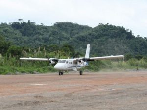 Realizan vuelo inaugural en aeródromo de Pichari