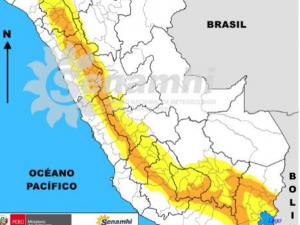 Se esperan lluvias de moderada a fuerte intensidad en la sierra