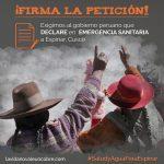 Convocan marcha para demandar declaratoria de emergencia sanitaria en Espinar