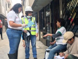 Ministra Fabiola Muñoz recomendó a damnificados dar características de bienes afectados por aniego