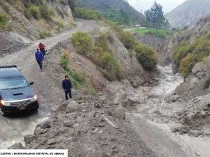 Moquegua: Registran huaico volcánico en el valle de Ubinas