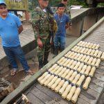 Decomisan 44 kilos de droga en el Vraem