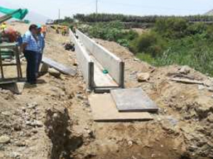 La Libertad: Restituyen canal de planta de tratamiento de agua colapsado por Niño Costero