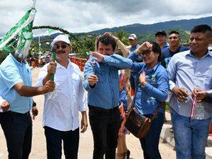 San Martín: Gobierno Regional inauguró puente vehicular en caserío Aucararca