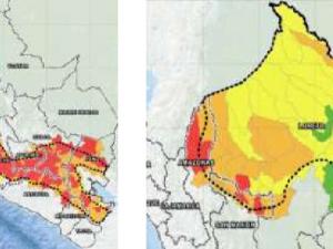 Unos 400 distritos de la sierra y selva con riesgo muy alto de huaicos por lluvias