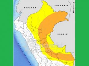 Desde hoy al 18 de abril se esperan lluvias de hasta fuerte intensidad en la selva