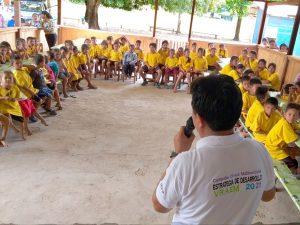 Promueven cuidado del medio ambiente con estudiantes asháninkas en el Vraem