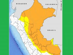 Lluvias se intensificarán desde el miércoles 22 al sábado 25 de mayo en la selva