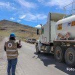 Supervisan derrame de concentrado de cobre tras volcadura de camión encapsulado en Espinar