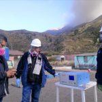 Monitorean calidad de aire en zona afectada por el volcán Ubinas
