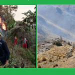 San Martín: Extinguen incendio forestal en el distrito de Moyobamba