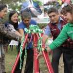 Colocan primera piedra para iniciar mantenimiento de vía comunal en San Martín
