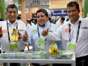 Productores que han innovado cultivo de banano orgánico y café participan en Expoalimentaria