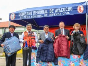 Ayacucho: Ayuda humanitaria para familias vulnerables ante bajas temperaturas