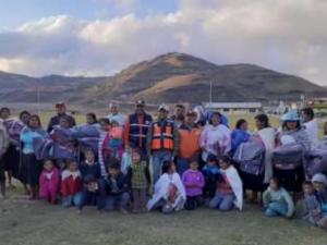 Familias reciben ayuda humanitaria en Huánuco