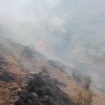 Extinguen el incendio forestal en Urubamba