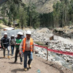 Huancavelica: Supervisan trabajos de defensa ribereña de río Sicra