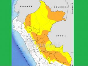 Lluvias en la selva se intensificarán hasta el 19 de octubre