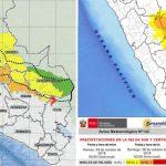Alto riesgo de lluvias en 29 distritos de la selva