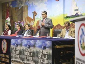 Alistan actividades por los 195 años de la Batalla de Ayacucho